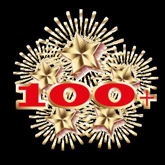 Салюты от 100 залпов